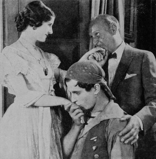 Marceline-Day-and-director-John-Robertson-and-costar-Ramon-Novarro-on-the-set-of-The Road-to-Romance-1927